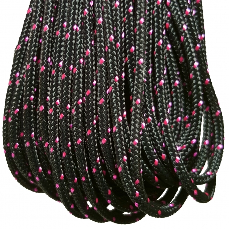 Traditional Crosslace - Black (Pink Tracer)