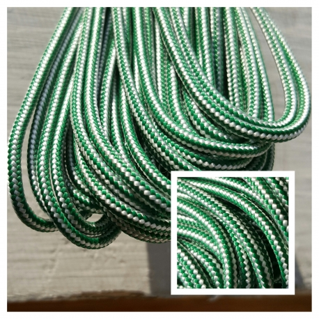 Green/White Crosslace - Premium
