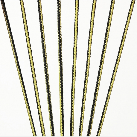 Black/Yellow Bootlace - (10 Yard Bundles)