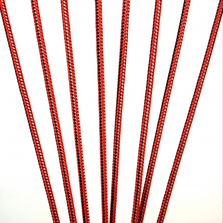 Red/Grey Lacrosse Crosslace - Premium